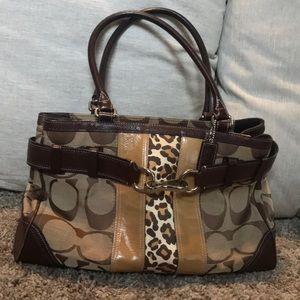 Coach Hamptons signature stripe F13072 handbag